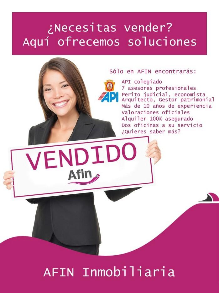 Poster AFIN inmobiliaria web Máximo precio de venta garantizado